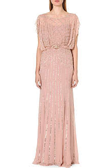 JENNY PACKHAM Embellished silk gown