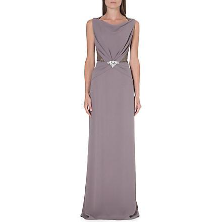 JENNY PACKHAM Sheer-back embellished crepe gown (Osprey