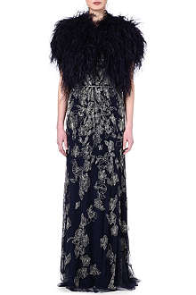 JENNY PACKHAM Marabou feather bolero jacket