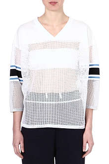 TOGA Mesh-panelled football top