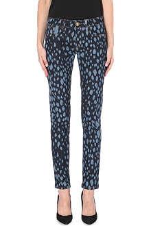 FAUSTO PUGLISI Leopard skinny jeans