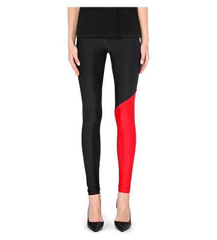 FAUSTO PUGLISI Contrast print leggings (Blk/red