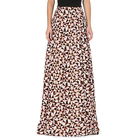 FAUSTO PUGLISI Geo print maxi skirt (Purple