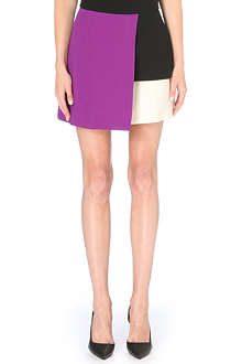 FAUSTO PUGLISI Colour-block mini skirt