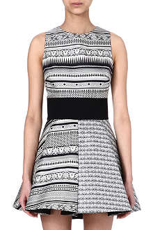 FAUSTO PUGLISI Monochrome silk dress