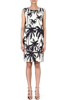 FAUSTO PUGLISI Palm print shift dress
