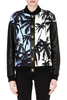 FAUSTO PUGLISI Palm Tree bomber jacket