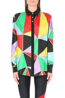 FAUSTO PUGLISI Graphic silk-twill shirt