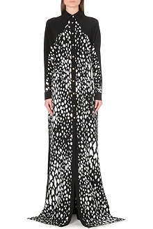 FAUSTO PUGLISI Abstract print silk gown