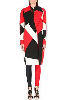FAUSTO PUGLISI Patchwork wool coat