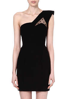 SAINT LAURENT Asymmetric single shoulder dress