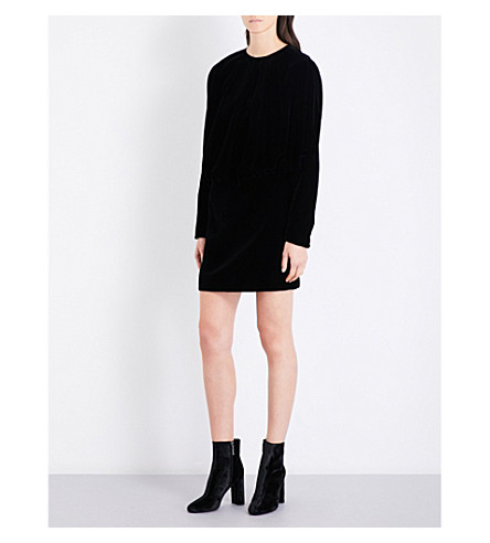 SAINT LAURENT Oversized velvet dress (Black