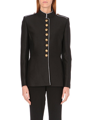 JEAN PAUL GAULTIER Military wool and silk-blend jacket
