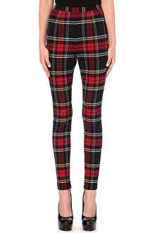 JEAN PAUL GAULTIER Tartan skinny trousers
