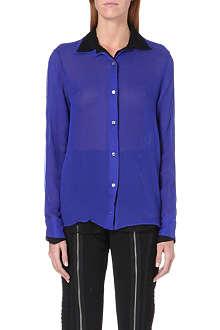 JEAN PAUL GAULTIER Contrast-detail silk shirt