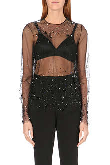 JEAN PAUL GAULTIER Embellished tulle top
