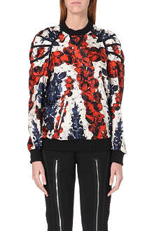 JEAN PAUL GAULTIER Union Jack silk-satin sweatshirt