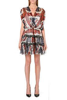 JEAN PAUL GAULTIER Union Jack floral-print silk-chiffon dress