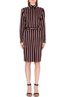 JEAN PAUL GAULTIER Striped wool-blend dress
