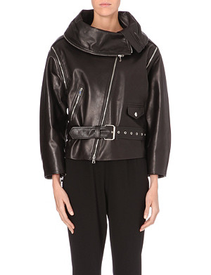 JEAN PAUL GAULTIER Oversized leather biker jacket