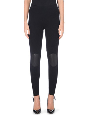 JEAN PAUL GAULTIER Contrasting knee patch leggings