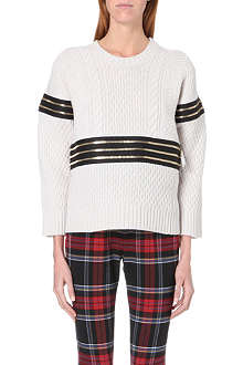 JEAN PAUL GAULTIER Zip-detail wool and cashmere-blend jumper