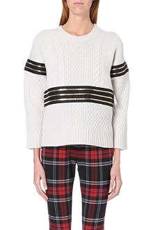 JEAN PAUL GAULTIER Zip-detail wool and cashmere-blend jumper