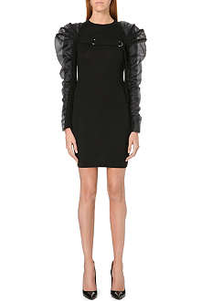 JEAN PAUL GAULTIER Puffed-sleeve knitted wool dress