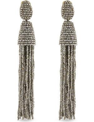 OSCAR DE LA RENTA Bead tassel earrings