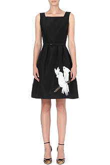 OSCAR DE LA RENTA Parrots sleeveless dress