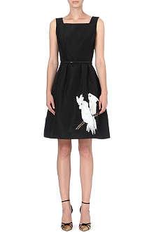 OSCAR DE LA RENTA Parrots sleeveless dress