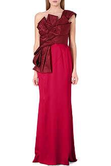 OSCAR DE LA RENTA Bow-detail silk gown