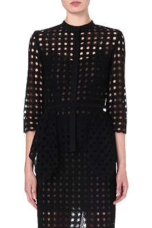 OSCAR DE LA RENTA Perforated cotton top