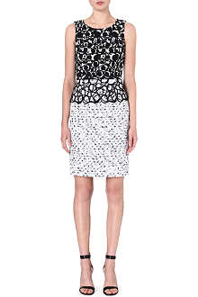 OSCAR DE LA RENTA Sleeveless jacquard dress