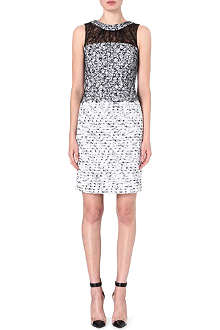 OSCAR DE LA RENTA Lace shift dress