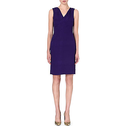 OSCAR DE LA RENTA Sleeveless crepe dress (Violet
