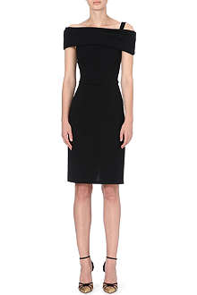 OSCAR DE LA RENTA Shoulder-wrap dress