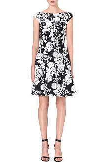 OSCAR DE LA RENTA Floral-print cotton dress