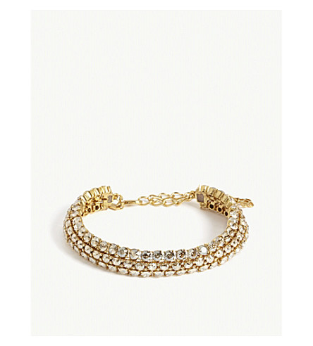 OSCAR DE LA RENTA Crystal cluster necklace (Cry+cold+shadow