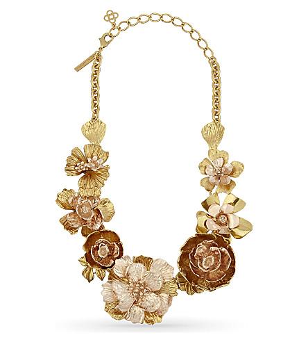 OSCAR DE LA RENTA Floral necklace (Gold