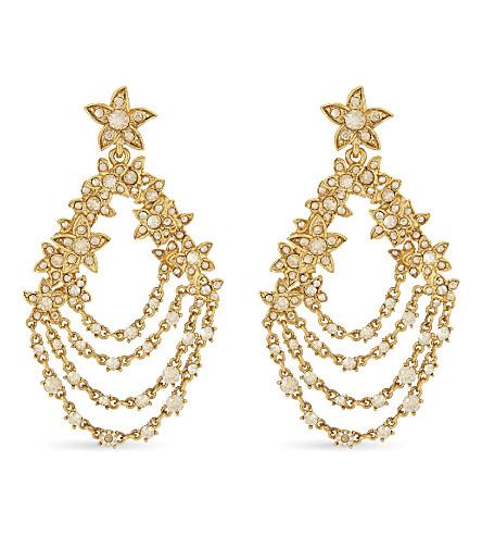 OSCAR DE LA RENTA Star Fish Swarovski crystal drop earrings (Cry+cold+shadow