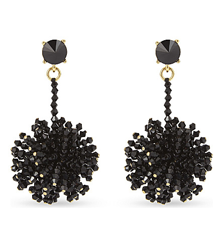 OSCAR DE LA RENTA Firework drop earrings (Black