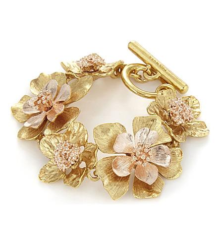 OSCAR DE LA RENTA Bold flower bracelet (Gold