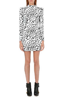 BALMAIN Animal-print sequinned dress