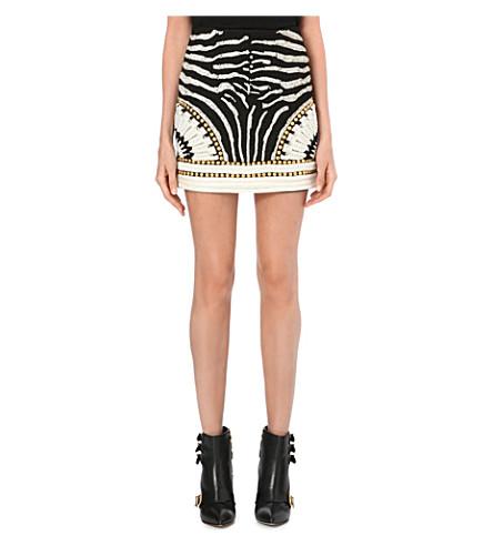 BALMAIN Embellished mini skirt (Black