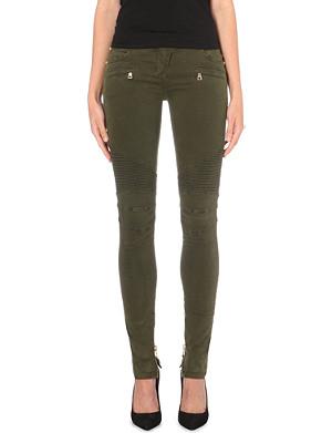 BALMAIN Skinny stretch-cotton trousers