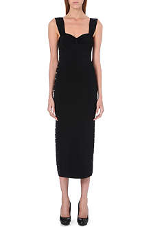 BALMAIN Cut-out stretch-knit dress