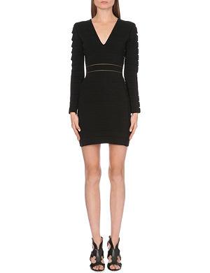 BALMAIN Slash-detail stretch-knit dress