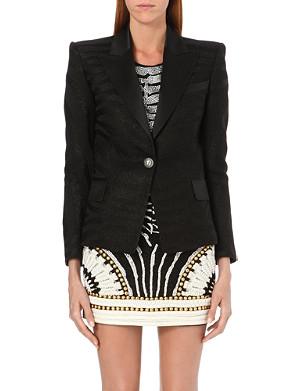 BALMAIN Classic zebra-jacquard blazer