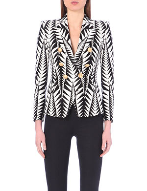 BALMAIN Geometric pattern jacket